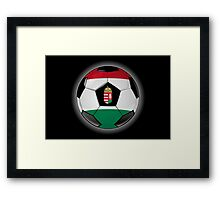 Hungary - Hungarian Flag - Football or Soccer Framed Print