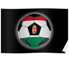 Hungary - Hungarian Flag - Football or Soccer Poster