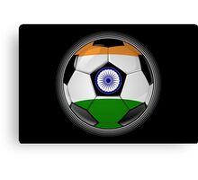 India - Indian Flag - Football or Soccer Canvas Print