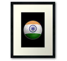 India - Indian Flag - Football or Soccer 2 Framed Print