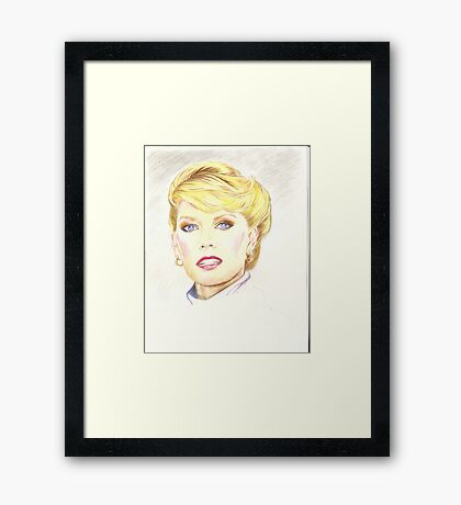 Blond with french twist Framed Print