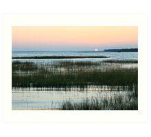 Sunset and Marsh Grass Art Print