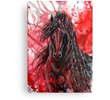 "Friesian Stallion - ""The Wizzard"" Canvas Print"