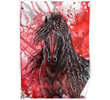 "Friesian Stallion - ""The Wizzard"" Poster"