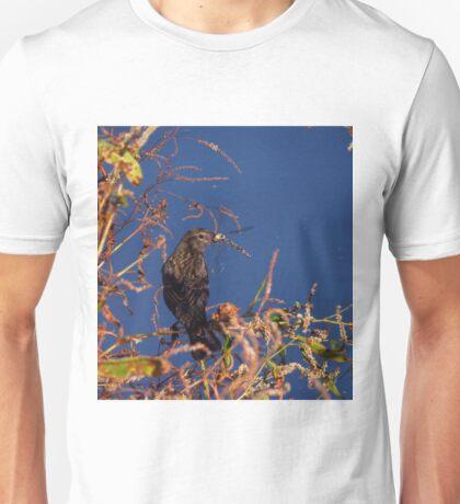 Bird eating a dragonfly Unisex T-Shirt