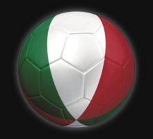 Italy - Italian Flag - Football or Soccer 2 by graphix