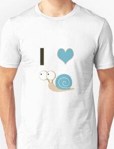 I heart Snails - blue Shell T-Shirt