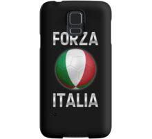 Forza Italia - Italian Flag - Football or Soccer Ball & Text 2 Samsung Galaxy Case/Skin