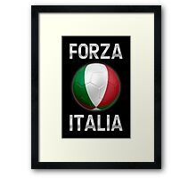 Forza Italia - Italian Flag - Football or Soccer Ball & Text 2 Framed Print
