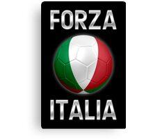 Forza Italia - Italian Flag - Football or Soccer Ball & Text 2 Canvas Print