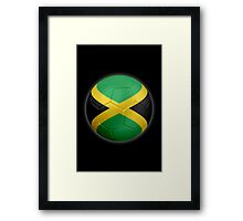 Jamaica - Jamaican Flag - Football or Soccer 2 Framed Print
