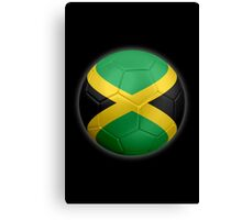 Jamaica - Jamaican Flag - Football or Soccer 2 Canvas Print