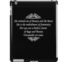 She reminds me of Beauty and the Beast iPad Case/Skin