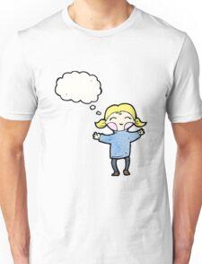 happy blond cartoon girl Unisex T-Shirt