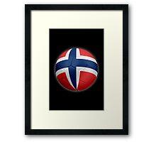 Norway - Norwegian Flag - Football or Soccer 2 Framed Print
