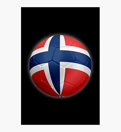 Norway - Norwegian Flag - Football or Soccer 2 Photographic Print