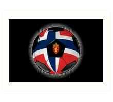 Norway - Norwegian Flag - Football or Soccer Art Print