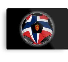 Norway - Norwegian Flag - Football or Soccer Metal Print