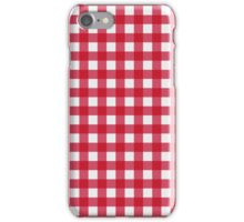 Red gingham iPhone Case/Skin