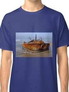 Rusty abandoned beached ship  Classic T-Shirt