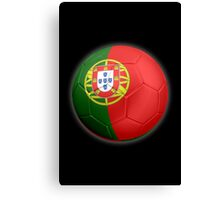 Portugal - Portuguese Flag - Football or Soccer 2 Canvas Print