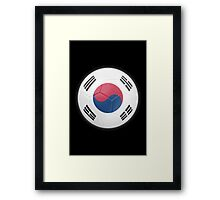 South Korea - South Korean Flag - Football or Soccer 2 Framed Print