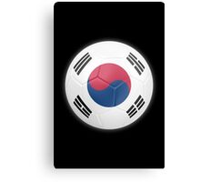 South Korea - South Korean Flag - Football or Soccer 2 Canvas Print