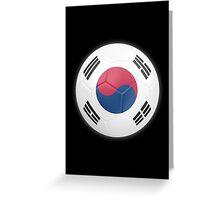South Korea - South Korean Flag - Football or Soccer 2 Greeting Card