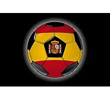 Spain - Spanish Flag - Football or Soccer Photographic Print