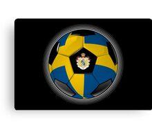 Sweden - Swedish Flag - Football or Soccer Canvas Print