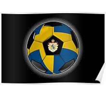 Sweden - Swedish Flag - Football or Soccer Poster