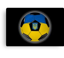 Ukraine - Ukrainian Flag - Football or Soccer Canvas Print