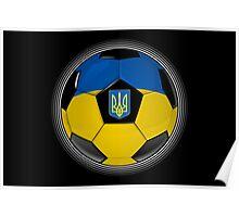 Ukraine - Ukrainian Flag - Football or Soccer Poster