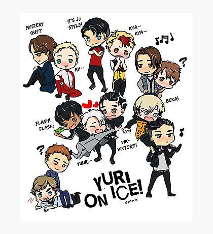Yuri On Ice - Full Chibi Team! Photographic Print