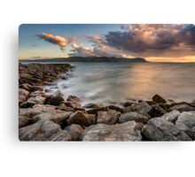 West Shore Sunset Canvas Print