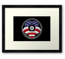 USA - American Flag - Football or Soccer Framed Print