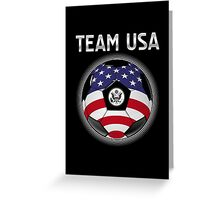 Team USA - American Flag - Football or Soccer Ball & Text Greeting Card