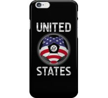 United States - American Flag - Football or Soccer Ball & Text iPhone Case/Skin
