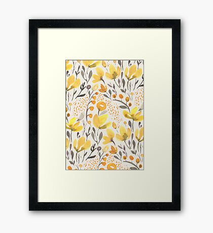 Yellow field Framed Print