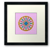 Angels of Prayer - pink Framed Print
