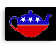 Tea Party - Republican Teapot Canvas Print