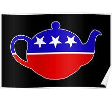Tea Party - Republican Teapot Poster