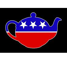 Tea Party - Republican Teapot Photographic Print
