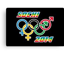 Sochi Equality Canvas Print