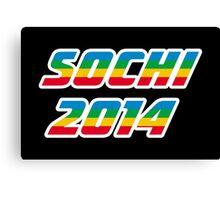 Sochi 2014 Rainbow Text Canvas Print