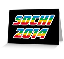 Sochi 2014 Rainbow Text Greeting Card