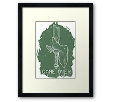 Game Over Link Framed Print