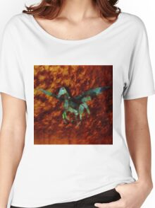 Winged Horse by Sarah Kirk Women's Relaxed Fit T-Shirt