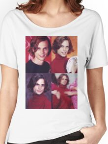 matthew gray gubler in a turtleneck Women's Relaxed Fit T-Shirt