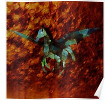 Winged Horse by Sarah Kirk Poster